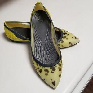 Womens Crocs Brand Pointy Toe Flats